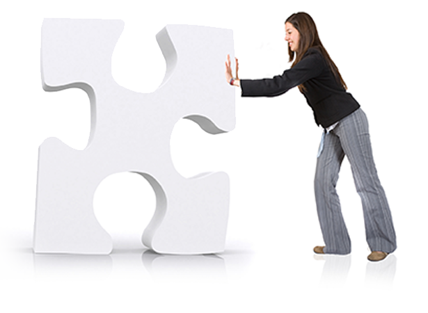 woman with puzzle piece